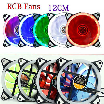RGB 120mm Silent computer PC cooling case fan colorful LED cooler fans Gaming