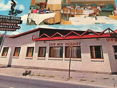 ROUTE 66 POSTCARD - Hong Kong Restaurant - Located in Amarillo Texas - Chinese