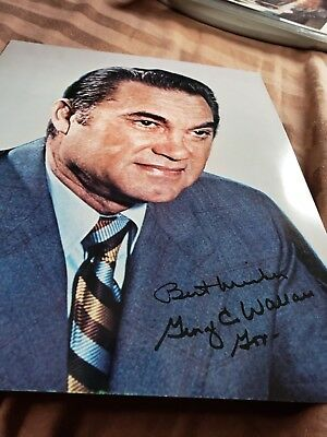 George C Wallace Governor Of Alabama Segregation Racism Signed Photo Autograph