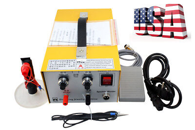 Pulse Sparkle Spot Welder Jewelry Welding Machine Gold Silver Platinum 110V