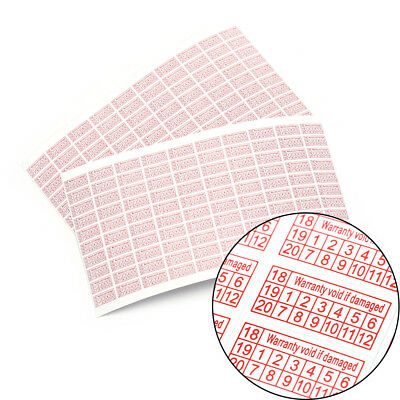 200X 2018-2020 Warranty Void If Damaged Protection Security Label Sticker Seal、-