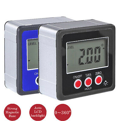 LCD Digital Protractor Angle Finder Bevel Level Box Inclinometer Meter Magnetic