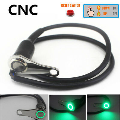 CNC Green LED Motorcycle Handlebar Self-return Reset Switch Button Engine ON-OFF