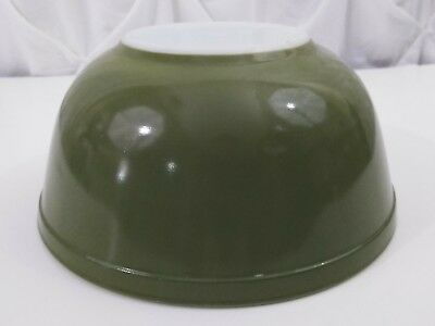 Vintage Pyrex Mixing Bowl #403 Avocado Green 2.5 Quart