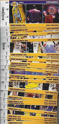 2013-14 Nba La Lakers Basketball Complete Season Full Tickets - Kobe - 43 Tix