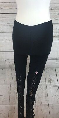 ba693902976f3 Leggings With Lace Up Front Black Size 10 ex Asos Tall
