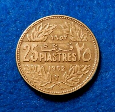 1952 Lebanon 25 Paise - Great Coin - See PICS