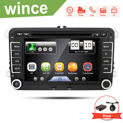 """For VW Golf Jetta Passat 7"""" HD Touch Screen Car Stereo GPS DVD Player Radio SD"""
