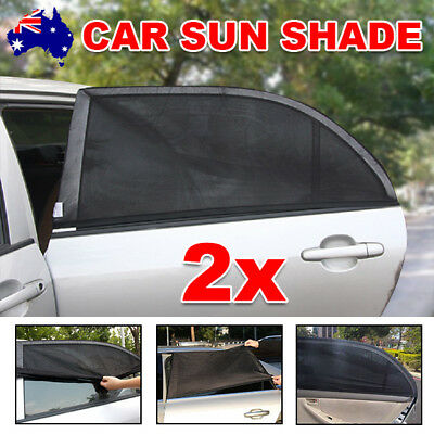 2x Sun Shades Rear Side Seat Car Window Socks Universal Baby Kids Protection BZ