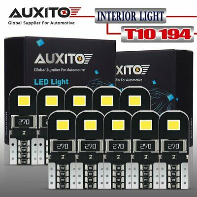 AUXITO Canbus 10X 6000K 2825 T10 168 194 W5W License Side Marker LED Light Bulb