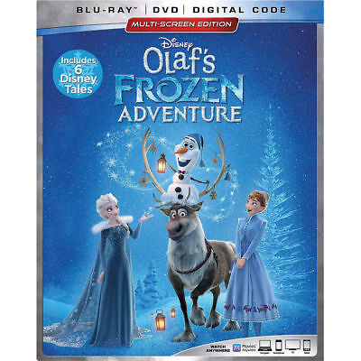 Disney Olaf's Frozen Adventure Blu-ray + DVD + Digital Code
