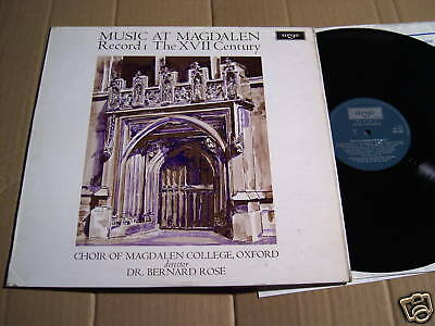 Music At Magdalen - Record 1 The Xvii Century  - Lp (2)