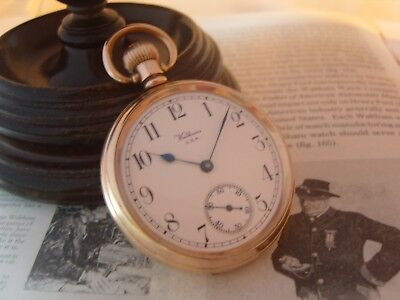 Antique Pocket Watch 1925 Waltham USA 7 Jewel 9ct Rose Gold Filled Case Fwo