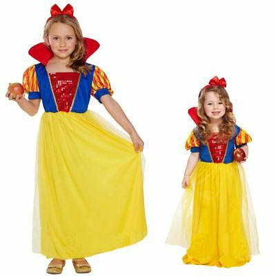 Girls Kids Childs Goldilocks Fairy Tale Fancy Dress Costume Book Day Week 3-13