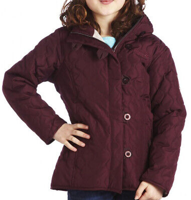 "Regatta Girls Waterproof Jacket Red Fleece Lined Insulated Winter Coat 32"" 34"""