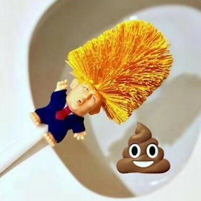 Donald Trump Toilet Brush & Paper Make Toilet Great Again Home Cleanning Tool