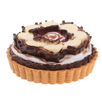 1/6 Food Chocolate Cake Pie Dessert Toys With Magnets For Refrigerator Decor