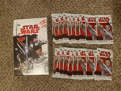 * 2017 Topps Star Wars The Last Jedi HOBBY Pack x20 Auto Sketch Plate Box Case *