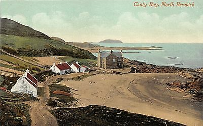 North Berwick-East Lothian Scotland~Canty Bay~Houses on Coast~Boats in Front~'10