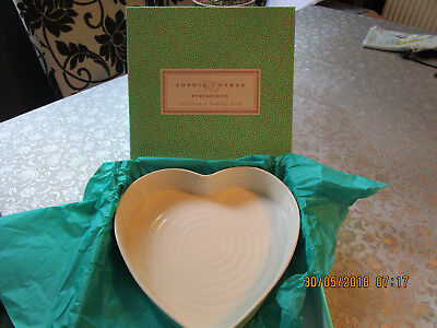 Sophie Conran Portmeirion Sweetheart Baking Dish White New Boxed