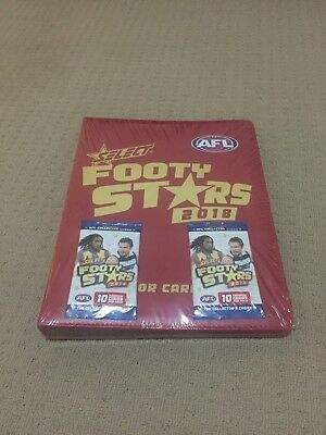 Brand New - AFL Select Footy Stars 2018 album - Unopened with 2 card packs