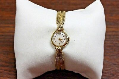Vintage Hamilton 14K Yellow Gold Watch 751 Mechanism 17 Jewels