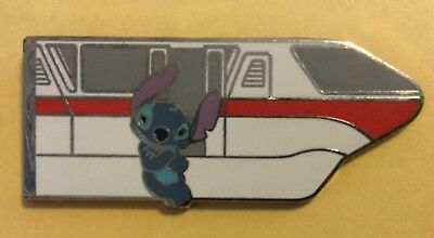 Wdw - 35 Magical Years 2006 - Mystery Tin 2 Pin Set - Monorail Red  Stitch Only