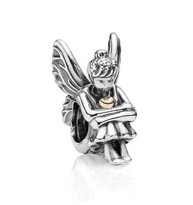 Authentic Pandora Silver Charm Beads Pixie Two tone 14k  Gold 791206