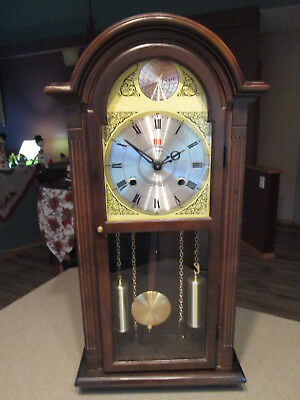 Vintage ????? 31 Day Pendulum Wind Up Chime Wall Clock Made in Korea