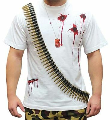 Unisex Fake Bullet Belt With 96 Bullets Adult Fancy Dress Party Toy Accessory