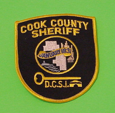 Cook County Illinois  Il  Corrections  D.c.s.i.  Sheriff /  Police Dept. Patch