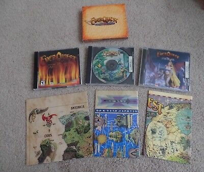 Everquest Lot of 4 Gaming CDs for PC & maps