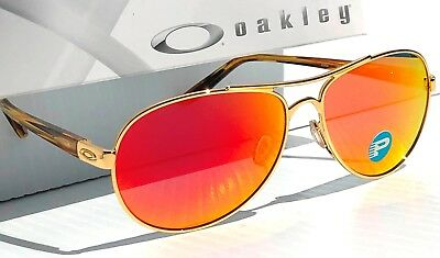 dd3b166261 NEW  OAKLEY TIE BREAKER Aviator Gold POLARIZED RUBY Lens Women s Sunglass  4108
