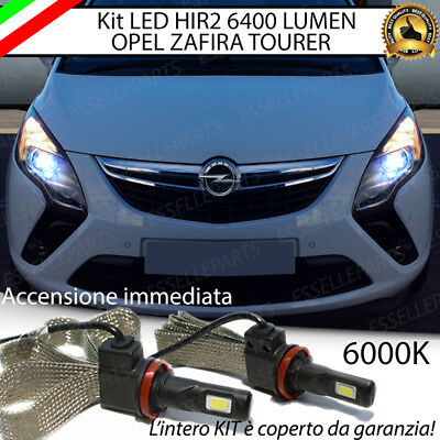 Kit Full Led Hir2 Hir Opel Zafira Tourer 6000K Bianco Canbus 6400 Lumen