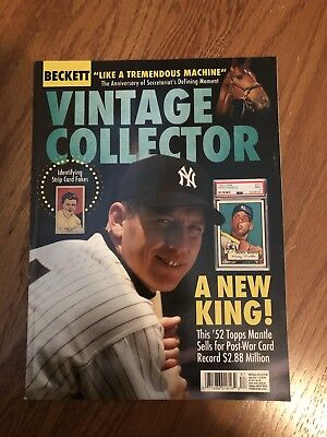 Mickey Mantle Vintage Collector Magazine ( Lot Of 2 ) Mantle & Maravich