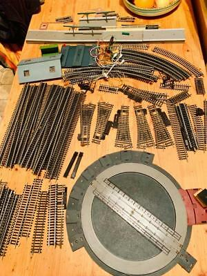 Hornby Lot Dublo Oo Train Model Railway Layout Track Points Turntable R410 Spare