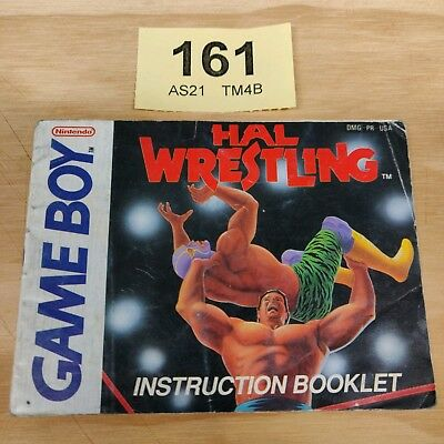 Hal Wrestling - Game Boy Manual - DMG-PR-USA