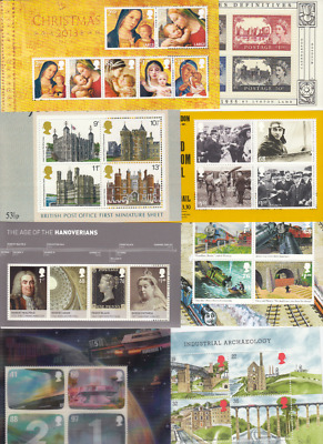 GB Miniature Sheets 1978 - 2018