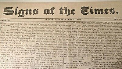 Antique 1828 Newspaper Signs of the Times Published by Friends of Andrew Jackson