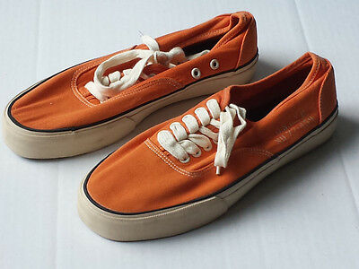 American Eagle Outfitters Orange Canvas Shoes Size 8 Casual Low Top Summer