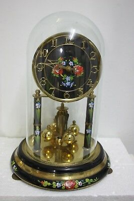 Large Floral dial Koma  Anniversary clock 400.day clock torsion clock dome clock