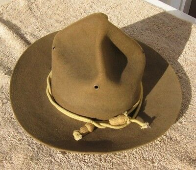 Soldier Identified WWI U.S. Army  PH. G. 6-3/4 Campaign Ferry Hat Mfg 219~Code 3