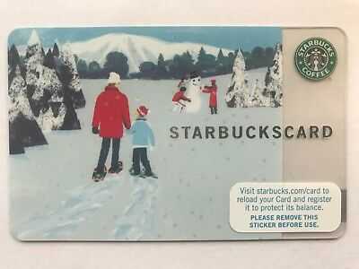 2007 Starbucks Gift Card Christmas Winter Walk Unused Pin Intact No Value 6038