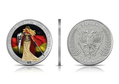 2019 Germania 5 Mark 1oz .999 fine Silver Bullion Coin  Collectors editions