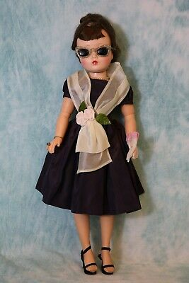 20 Inch Vintage Madame Alexander 1950s Cissy Doll Fabulous Dress and Accessories