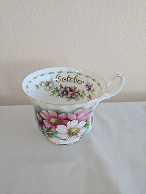 Royal Albert Bone China Flowers of the Month October Cosmos Teacup Only