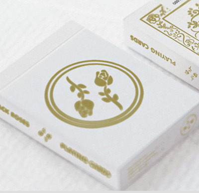 Black Roses White Gold Playing Cards Limited Edition - LIMITED