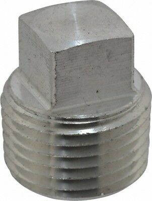 """1"""" 316 Stainless Steel Square Head Pipe Plug (1 Piece)"""
