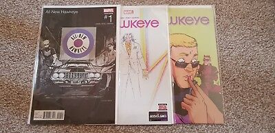 Marvel Complete Set of 6 All New Hawkeye Comics inc Variant First Print New!