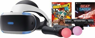 NEW Sony PlayStation VR Borderlands 2 and Beat Saber Bundle w/ MOVE Controllers